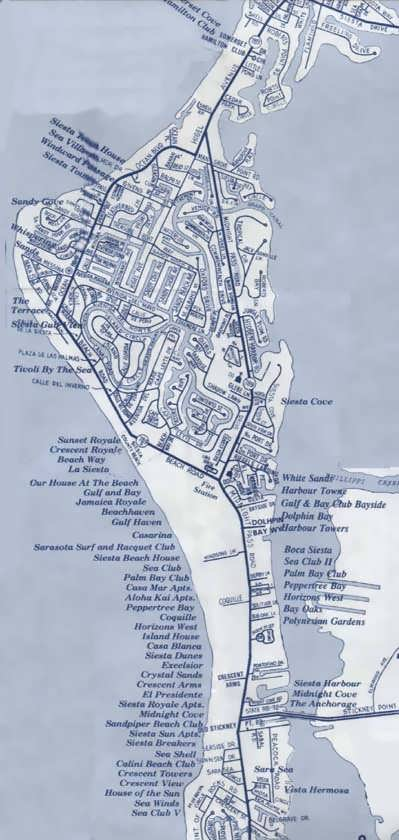 North Siesta Key Map And Information